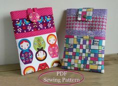iPad Case / Tablet Sleeve Sewing Pattern PN705 - 7 inch Tablet or Kindle Sleeve