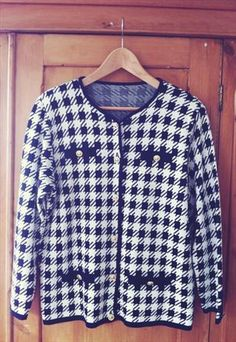 Beautiful Clueless style 90's Dogtooth cardie/jacket 8-12 from KatesKloset
