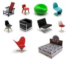 REAC Miniature Designer Chairs Vol 1
