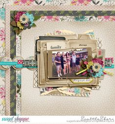 Digital scrapbook page by SeattleSheri using Roots and Wings by LJS Designs