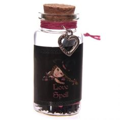Witchy Love Spell Jar with Heart Trinket