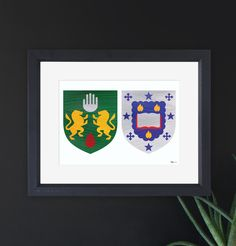 The perfect Irish Christmas present. Hand painted coat of arms with a modern twist.