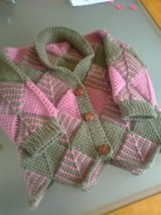 Tunisian Diamond crochet jacket/cardigan by GillBux on Etsy, £3.50