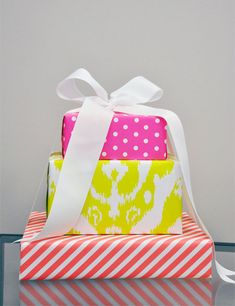 Patterned Neon Wrapping Paper | Haute Papier