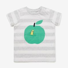 Apple & Worm Tee  VINTAGE WHITE