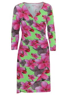 b4841e523e84 Køb grøn kjole med pink blomster fra Dazzle Me. Fri fragt