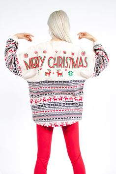 "Merry Christmas - ""Ugly Christmas Sweater"" Spirit Jersey® by SpiritJersey on Etsy https://www.etsy.com/listing/255440114/merry-christmas-ugly-christmas-sweater"