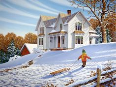Afternoon Delight  JohnSloaneArt.com - John Sloane - Gallery - Country Kids