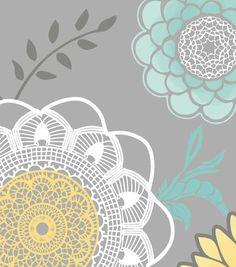Keepsake Calico™ Cotton Fabric-Large Laceflower