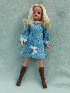 VINTAGE PEDIGREE SINDY DOLL 033050X WEARING 'SUMMER PARTY DRESS' 1974 | eBay