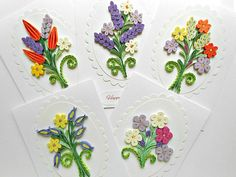 Quilling flowers card Anniversary card Birthday card