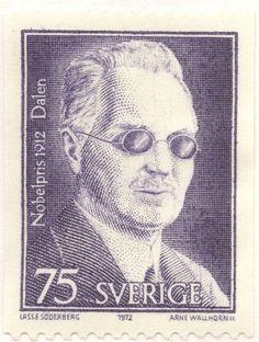 "Sweden 75ö ""Nobel Price Winners 1912"" - Gustaf Dahlénl 1972. Arne Wallhorn sc."