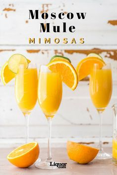 Moscow Mule Mimosas Are the Best Brunch Cocktails! Your favorite vodka drink meets your favorite bubbly drink.