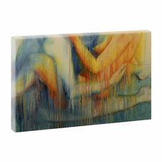 Berührung - Kunstdruck auf Leinwand -H-65cmB-100cm-Hochwertiges Bild
