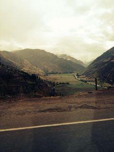 Camino a Pisac en Cusco, Perú.