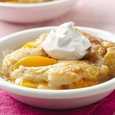 "Classic Bisquick® Peach Cobbler-Recipe Sponsored by Bisquick®. ""Whether you use canned,fresh or frozen peaches will probably depend on the time of year.Whatever the season,this homey dessert will bring you praises.Try this favorite from the Betty Crocker Kitchens tonight."""