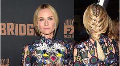 Diane Krugers doppelter Flechtzopf