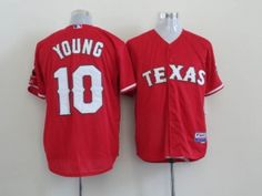 Texas Rangers #10 Michael Young Red Cool Base Jersey