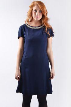 1950s blue dress #doortjevintage