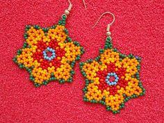 Seed Bead Earrings, Flower Earrings, Beaded Earrings, Seed Beads, Crochet Earrings, Beaded Bracelets, Handmade Beaded Jewelry, Diy Jewelry, Jewelry Accessories