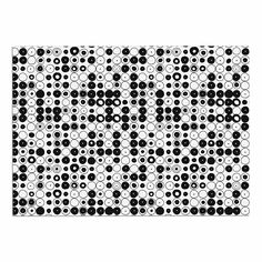 KESS InHouse Nandita Singh 'Black and White Funny Polka Dots' White Abstract Dog Place Mat, 13' x 18' ^^ Remarkable product available now. : Dog food container