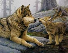 Brother Wolf - Counted cross stitch pattern in PDF format by Maxispatterns on Etsy