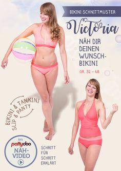 Schnittmuster und Video-Nähanleitung für einen Bikini/Tankini von pattydoo