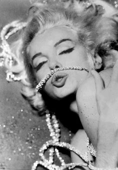 Diamonds are a girl's best friend ... my two favs together diamonds and Marilyn!