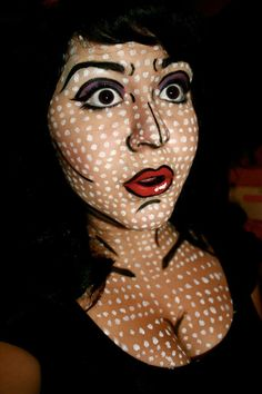 Pop art halloween makeup. This is my halloween costume!