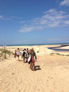 Le Courant d'Huchet #landes #couranthuchet #moliets #steam #beach #embouchure #surfer #surf