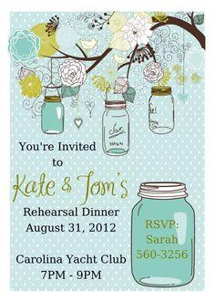Rehearsal Dinner Invitation, Rehearsal Dinner Invite, Rehearsal Dinner Favor, Rehearsal Dinner Ideas, Wedding Rehearsal Dinner. $18.00, via Etsy.