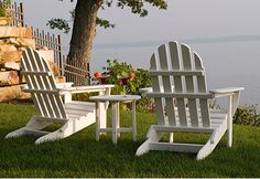 #Polywood chairs in a variety of colors always add to your outdoor #decor. www.capecodrelo.com