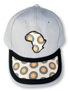 Grey Cap with African Emblem Size : Weight : Washable : Yes Fabric : Cotton Hand Made Baseball Hats, African, Cap, Grey, Fabric, Cotton, Handmade, Fashion, Baseball Hat