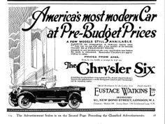 Chrysler Autocar Car Advert 1930 - Chrysler Six 6