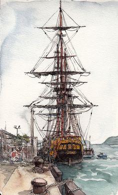 The Bounty Sketch.  by Adolfo Arranz