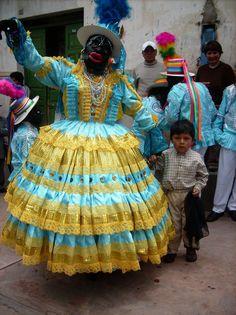 La negra tomasa personaje de la navidad Huancavelicana.