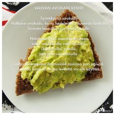 Vauvan avokadolevite Baby Food Recipes, Avocado Toast, Goodies, Breakfast, Kids, Bebe, Recipes For Baby Food, Sweet Like Candy, Morning Coffee