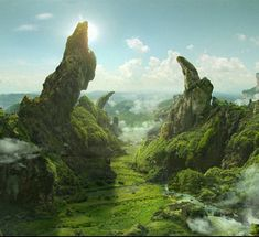 They don't break because of the weight of their own gravity, because the morphs counteract the grav #FantasyLandscape
