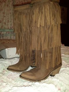 Liberty Black fringe boots. Bought these myself