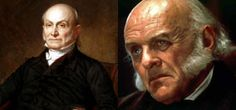 """John Quincy Adams, sixth President of the United States (1825–1829).  Anthony Hopkins in the film """"Amistad""""."""