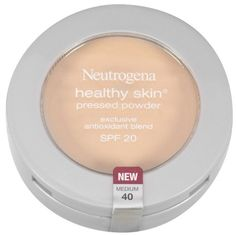 Neutrogena Healthy Skin Pressed Powder, SPF 20, Medium 40: Healthy Skin pressed powder provides flawless, natural-looking coverage while softening and conditioning skin. This whisper light, velvety soft powder provides a beautiful matte finish without a powdery look. The dermatologist-developed formula contains Pro-Vitamin B5 and Vitamins C and E to help soften and condition skin. Light diffusers soften the look of fine lines and minimize imperfections. Skin looks fresh all day.