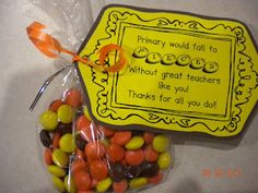 Teacher appreciation (made for church, but could easily make for school!)