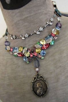 sweet maria - vintage assemblage necklace