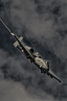 "titanium-rain: ""A-10 Warthog "" [Shout out to the pair of Hildisvini from the Maryland Air National Guard that went screaming past at low altitude today on their way home from the live fire range...."