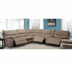 Parker House - Remus 6-Piece Sectional in Mocha Color - MREM-PACKA-MO