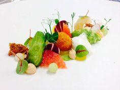 Garnele|Avocado|Kopfsalat|Grapefruit|Mango Culinary Arts, Food Presentation, Fine Dining, Gourmet Recipes, Food Art, Food Inspiration, Avocado, Plating, Mango
