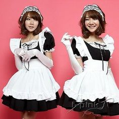 Sexy Japan Blk Cosplay Halloween Fancy Dress Uniform Ruffle Lolita Maid Outfit  - http://pandorasecretsonline.com/sexy-japan-blk-cosplay-halloween-fancy-dress-uniform-ruffle-lolita-maid-outfit/