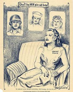 World War Two poster about saying no to prostitutes