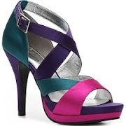 purple teal fuschia shoe