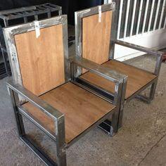 4 Wonderful Useful Welded Furniture, Car Furniture, Iron Furniture, Steel Furniture, Custom Furniture, Furniture Design, Wood Steel, Wood And Metal, Vintage Industrial Furniture